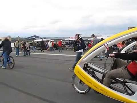 The Velotaxis of Berlin unite at Tempelhof Airport in 2010