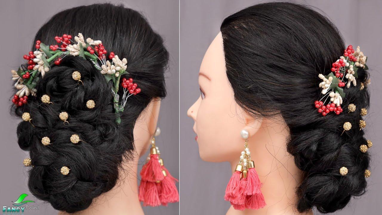 Quick and Easy Hairstyle For Wedding Function ! Tutorial - YouTube