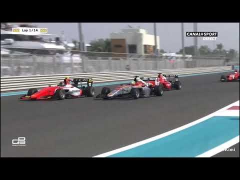 GP3 Series 2018 Abu Dhabi Race2 Lap1 Multiple Crashes