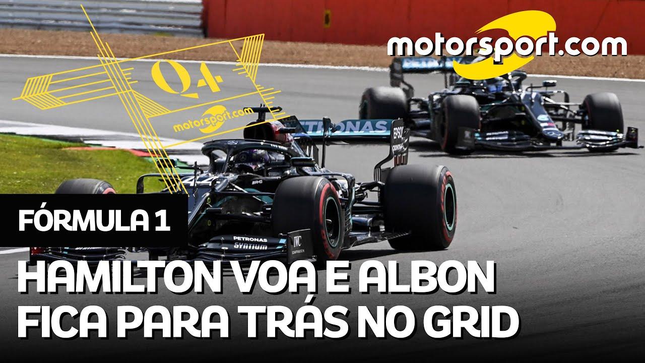 Q4: Hamilton reina, Leclerc vai bem, Albon e Hulk ficam pra trás; o grid do GP da Grã-Bretanha de F1
