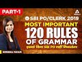 SBI PO/CLERK 2019 | Most important 120 Rules Of Grammar | Part 2 | Nimisha Ma'am