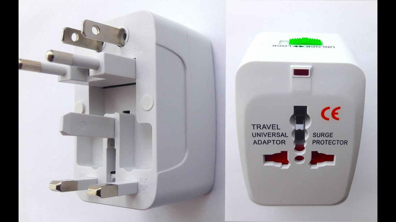 26fe877152389 Universal International Travel Plug Adapter with 2 USB Ports