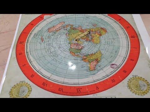 Nella libreria di Boston la mappa della terra piatta