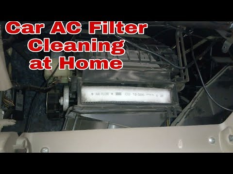 Car AC Filter Cleaning |Car Ac cleaning at Home |  DIY
