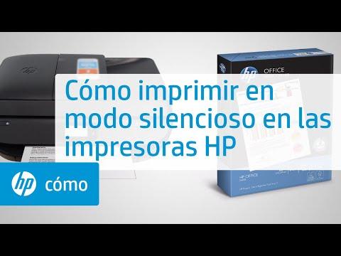 Cómo imprimir en modo silencioso en las impresoras HP | HP Printers | HP