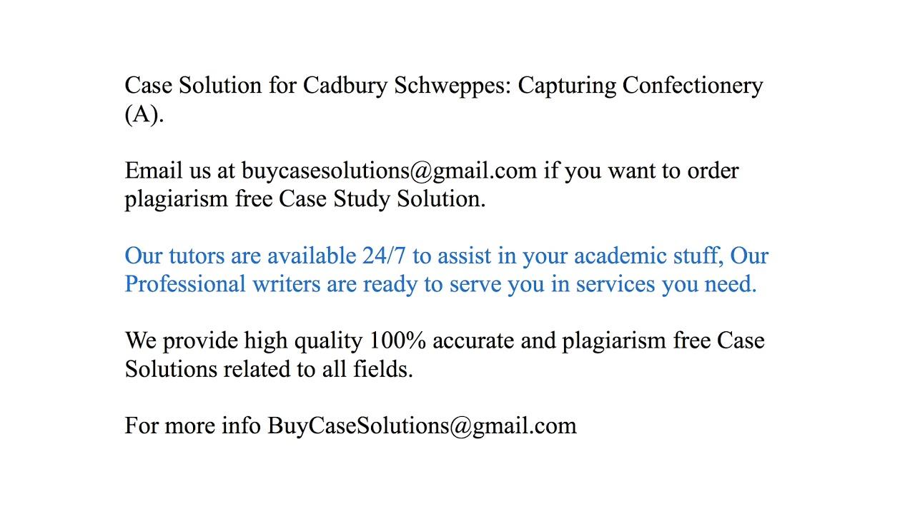 cadbury schweppes production method case study answers