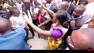 For First Lady Simone Ggagbo 's first day out (RAW)