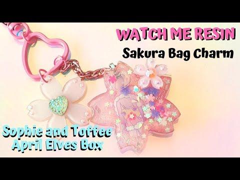 Watch Me Resin: Sakura Bag Charm - Sophie and Toffee April Elves Box 2019