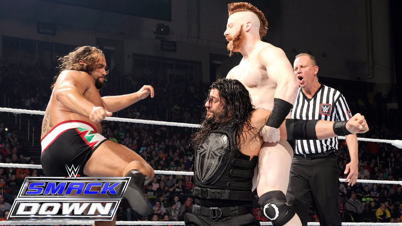 Roman Reigns Vs The League Of Nations Smackdown Jan 21 2016 Youtube