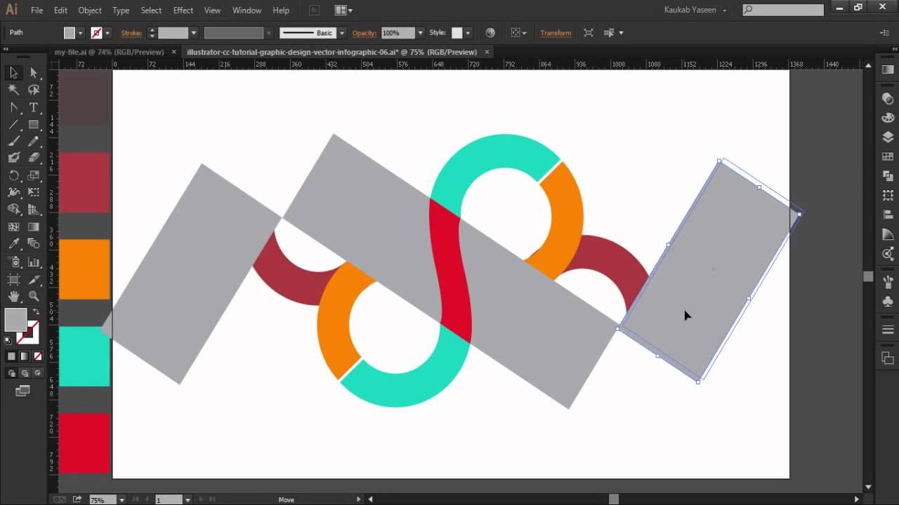 Illustrator CC Tutorial Graphic Design درس ممتع .. لعمل انفوجرافيك 1