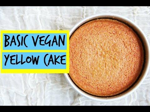 Basic Vegan Yellow Cake | East Meets Kitchen
