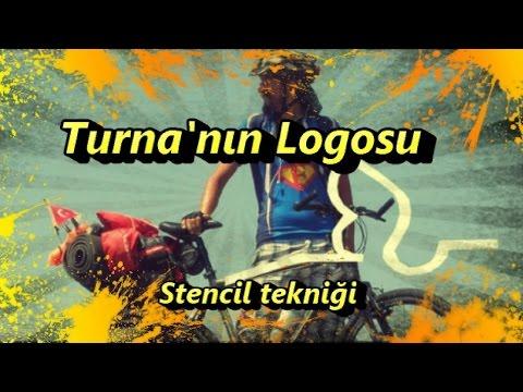 Turna'nın Logosu (Stencil Tekniği)