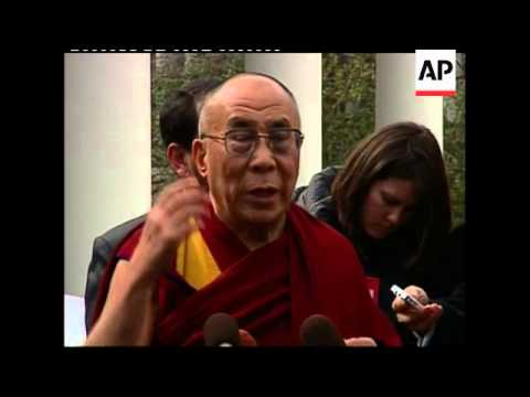 Dalai Lama speaking at White House after meeting Obama