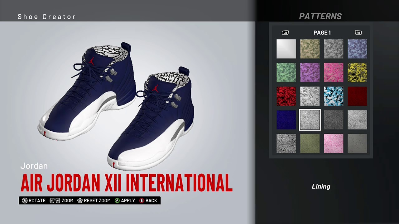 NBA 2K19 Shoe Creator - Air Jordan 13