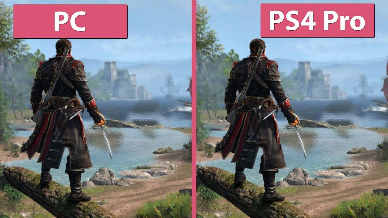 4k Assassin S Creed Rogue Original Pc Vs Ps4 Pro Remastered