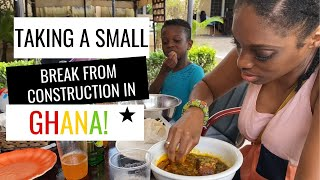 Taking A Break From Construction - Chop Time Life In Ghana