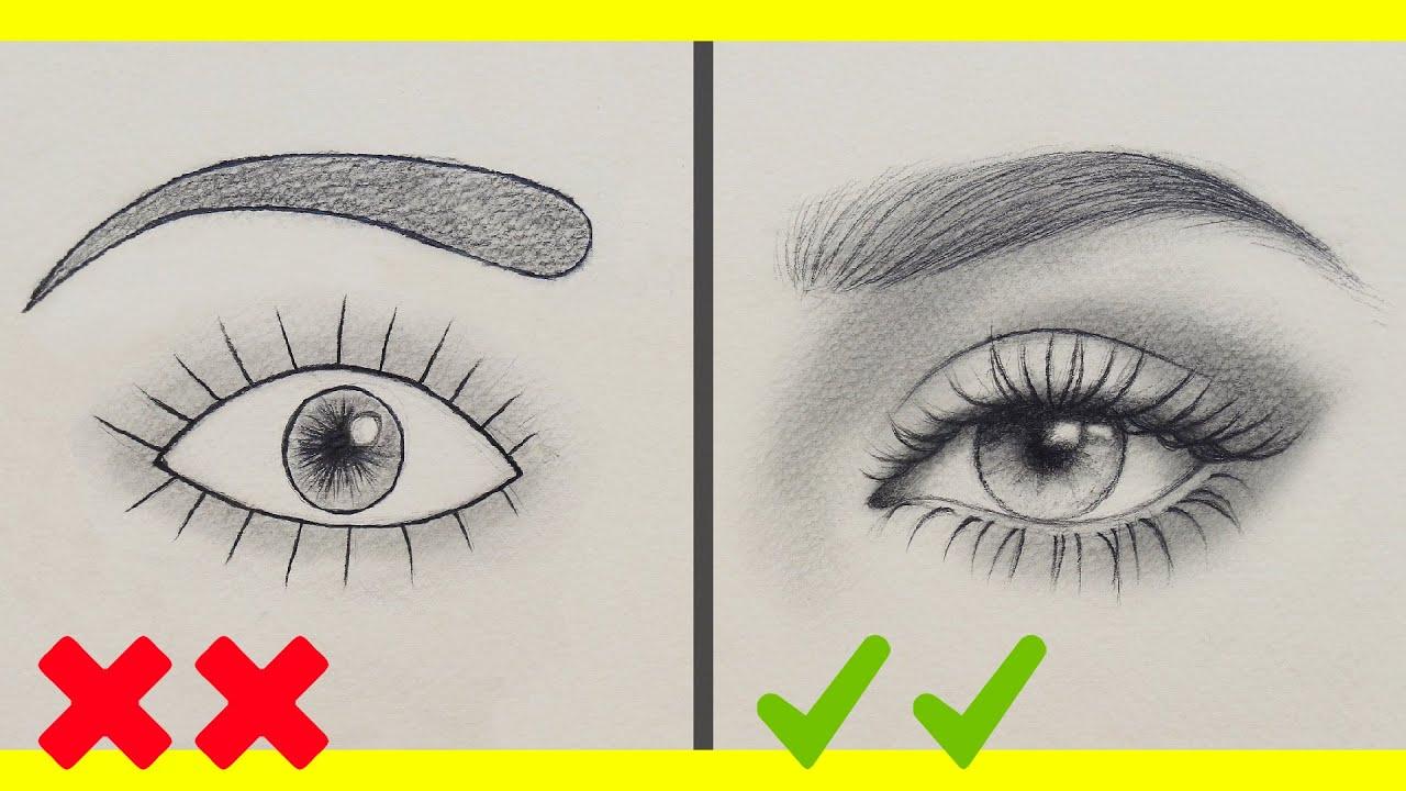 تعلم الرسم اخطاءك في رسم العين وكيف ترسمها بشكل صحيح رسم العين
