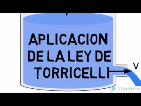 APLICACION DE LA LEY DE TORRICELLI