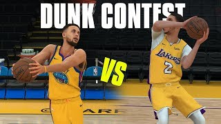 Stephen Curry vs Lonzo Ball  In A Dunk Contest! NBA 2K18 Gameplay!