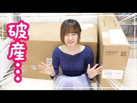 総額◯◯万円…高すぎて号泣w ワコムの液晶タブレットを購入してお絵かきするよ