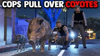 COPS PULL OVER COYOTE PACK | GTA 5 ROLEPLAY