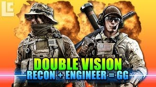 Double Vision - Recon & Engineer Laser Team Of Death (Battlefield 4 Beta Gameplay/Commentary)