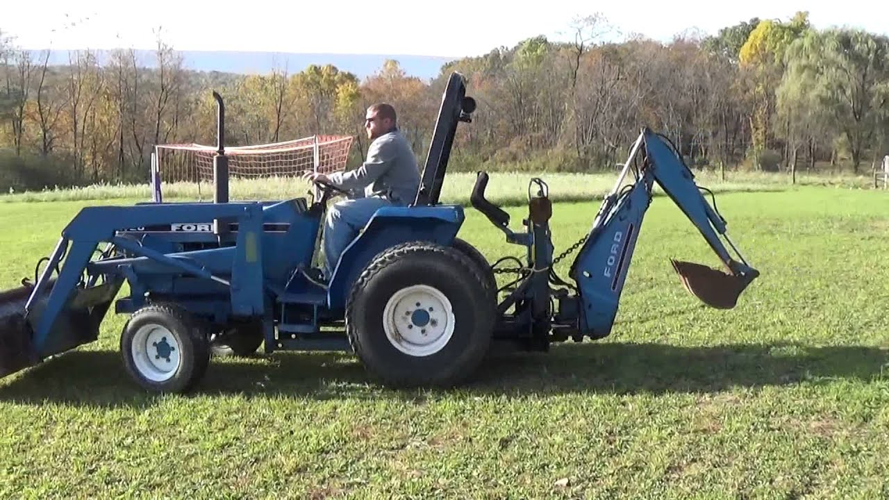New Holland Tractor People : New holland tractor with loader and backhoe youtube