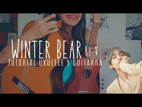 winter bear by v bts tutorial ukulele y guitarra youtube