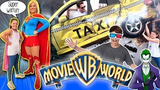 ¡¡Un día en MOVIE WORLD !! 🎢El PARQUE de ATRACCIONES temático SUPERHÉROES de WARNER BROS, Australia