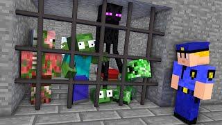 Monster School : PRISON ESCAPE Challenge - Minecraft Animation