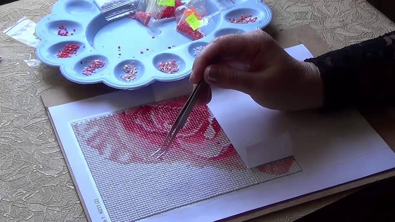 Алмазная вышивка видео урок для начинающих