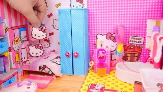 5 DIY Miniature Dollhouses ~ Hello Kitty rooms, Princess room, and more