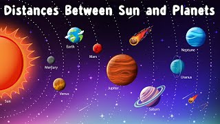 How Far Are The Planets From The Sun? Distance And Size Comparison In The Solar System || Animation