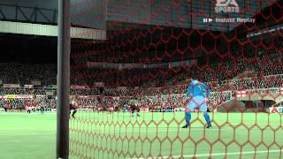 """""""FIFA 07 - Man. Udt. vs N'castle. Udt. Best goal 2015"""""""