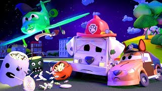 HALLOWEEN SPECIAL !! The Witch and the mistery of the stolen treats - The Car Patrol in Car City