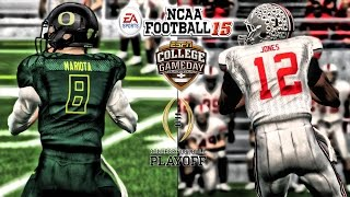 ncaa football 15 cfp national championship   2 oregon vs 4 ohio state gameplay
