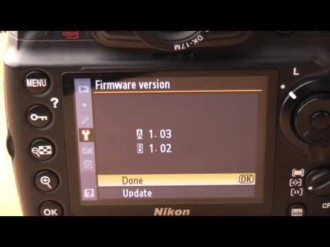 Nikon D700 firmware update 1.04 walkthrough