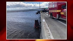 Dangling semi removed after chain-reaction crash on Dames Point Bridge
