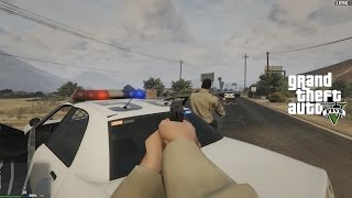 GTA V - Police Mod 1.0c - First Person Sheriff Patrol - Shootouts w/ realistic aiming