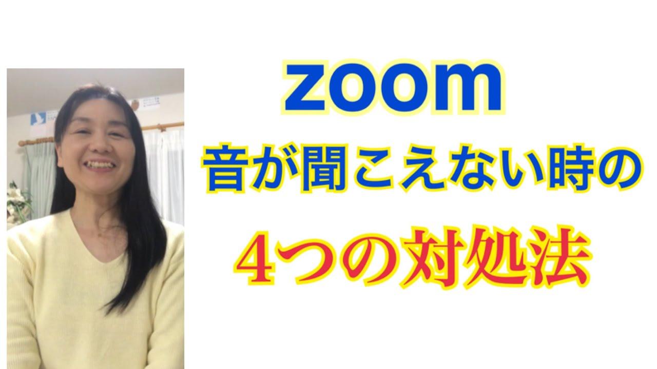 音 ない 聞こえ zoom が