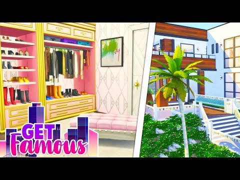 BRINLEY'S DREAM ROOM💕👠 // THE SIMS 4   GET FAMOUS HOUSE RENOVATION thumbnail
