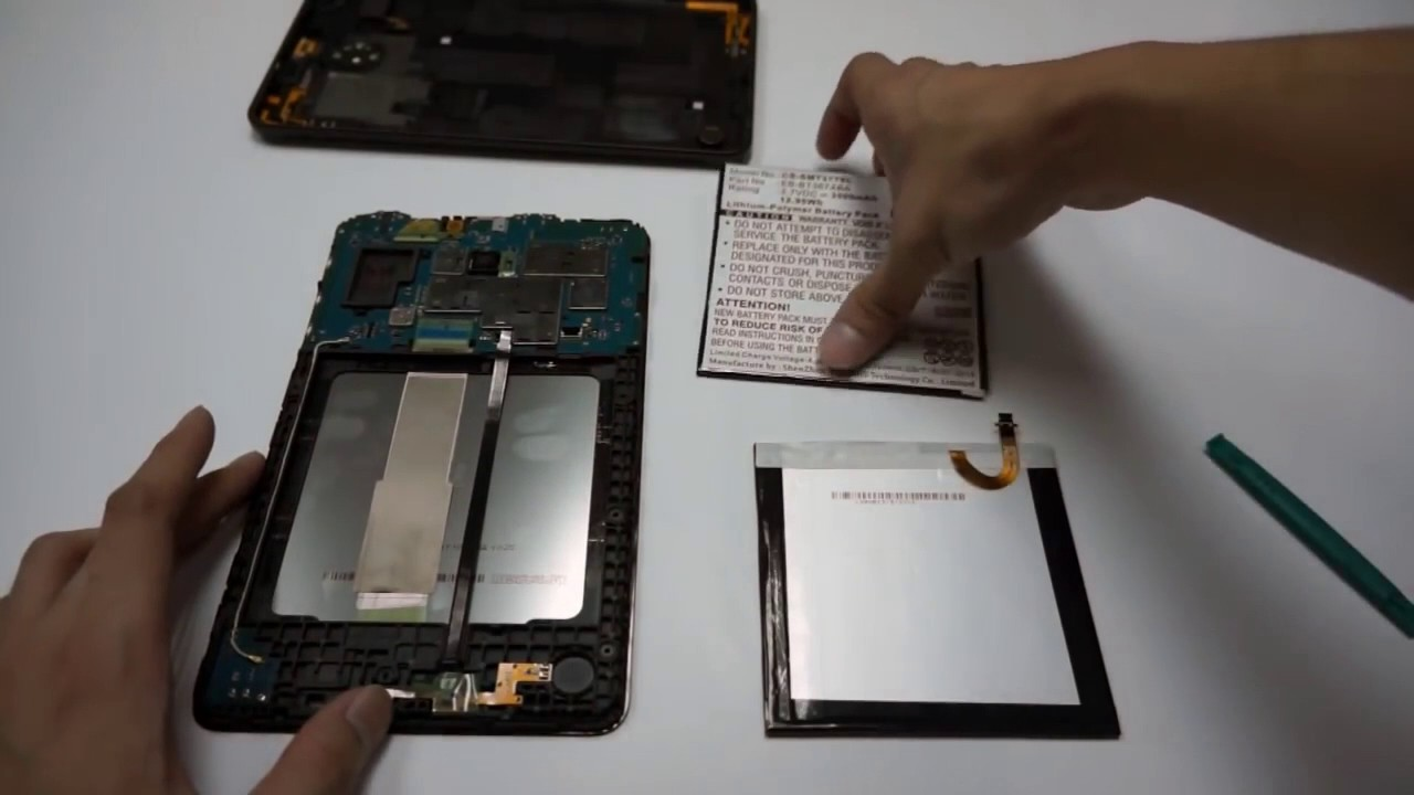 Samsung Galaxy Tab E Battery Replacement Instructions By