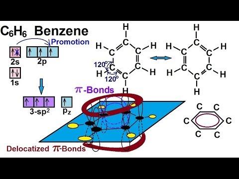 Chemistry - Molecular Structure (41 of 45) Delocalized Molecular Orbitals - Benzene - C6H6