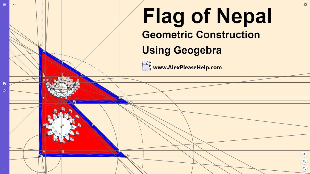 Flag Of Nepal Geogebra Construction Youtube