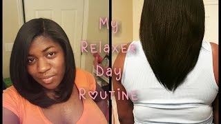 My Relaxer Day Routine | VERY DETAILED!!