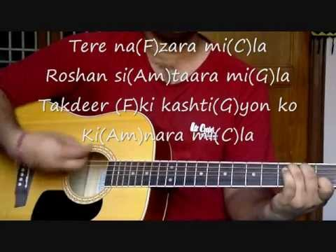 Raabta guitar lesson in HD with lyrics (Detailed strumming + Cover).wmv