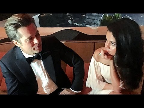 Selena Gomez Gets Cozy With Brad Pitt at Golden Globes Afterparty