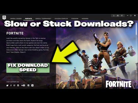 epic launcher slow download fix