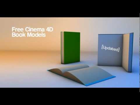 Free Cinema 4D Simple Book Models [Updated]