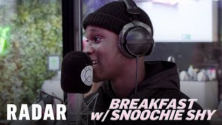Berna talks studio, tries new food and takes on #BeatTheBox | Breakfast w/ Snoochie Shy